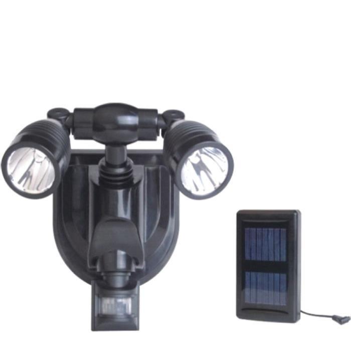 Projecteur solaire 2x3 w cree d tecteur pr sence achat for Detecteur presence exterieur