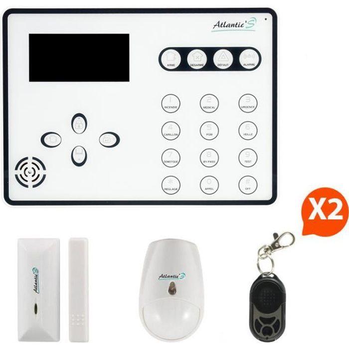 Atlantic 39 s alarme maison sans fil ateos kit 1 achat for Alarm maison sans fil