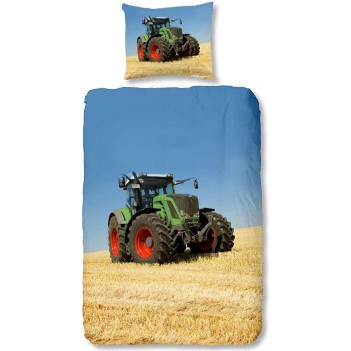 Housse de couette tracteur achat vente housse de for Lit tracteur