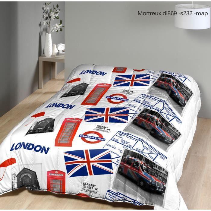 Couette 2 personnes voyage londrescouette de dimensions 200x220 cm imprim e pour lit deux - Couette imprimee london 1 personne ...