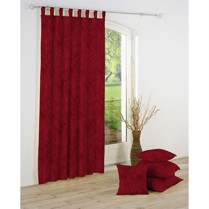 panneau rideau passants beton cire rouge bordeaux achat vente rideau voilage cdiscount. Black Bedroom Furniture Sets. Home Design Ideas