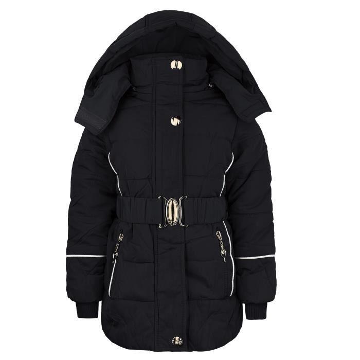 manteau enfant fille veste matelass e pour hive achat. Black Bedroom Furniture Sets. Home Design Ideas
