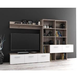 meuble tv achat vente meuble tv pas cher cdiscount. Black Bedroom Furniture Sets. Home Design Ideas