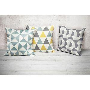 coussin geometrique achat vente coussin geometrique pas cher cdiscount. Black Bedroom Furniture Sets. Home Design Ideas