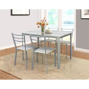 Table de cuisine gris achat vente table de cuisine - Table de cuisine grise ...