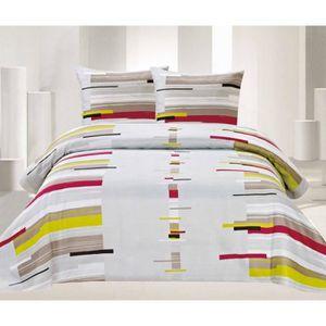 parure de lit 200x220 achat vente parure de lit 200x220 pas cher cdiscount. Black Bedroom Furniture Sets. Home Design Ideas