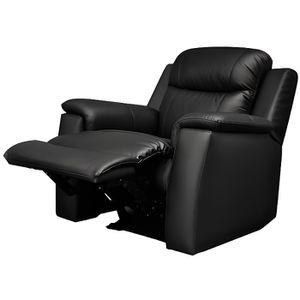Fauteuil relax cuir noir achat vente fauteuil relax cuir noir pas cher - Fauteuil relax cuir noir ...