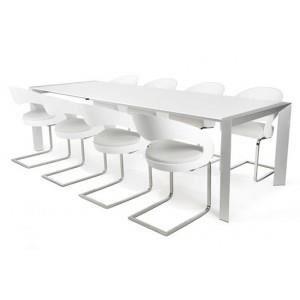 Table manger titanium blanc paris prix achat vente - Prix table a manger ...