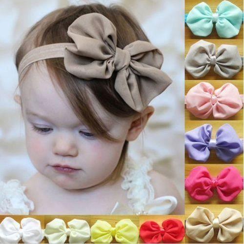 bandeau bebe serre tete fille coloris blanc cheveux b b. Black Bedroom Furniture Sets. Home Design Ideas
