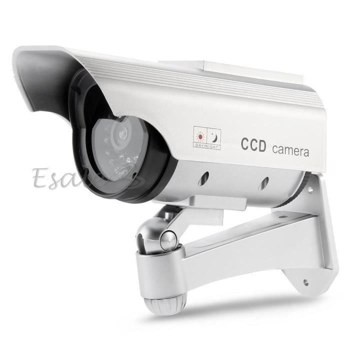Factice fausse dummy cam ra solaire led rouge s achat - Fausse camera de surveillance exterieur ...