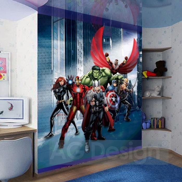 papier peint xl h ros avengers marvel achat vente. Black Bedroom Furniture Sets. Home Design Ideas