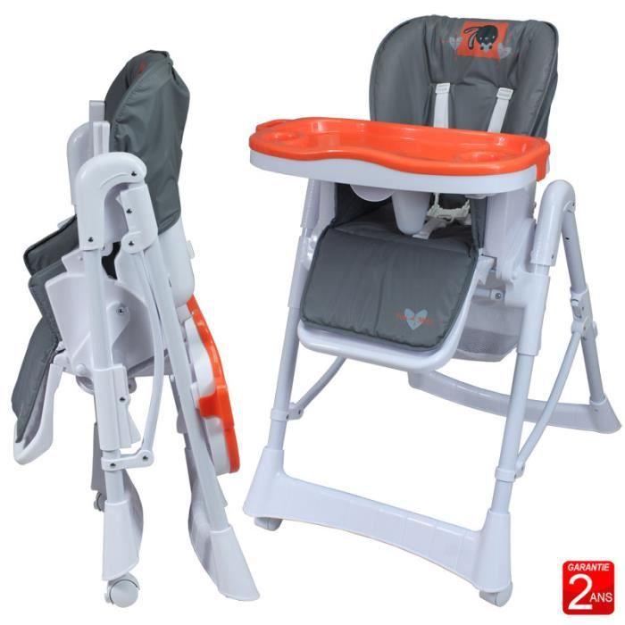Chaise haute t lescopique pour b b achat vente chaise haute 370068150517 - Cdiscount chaise haute bebe ...