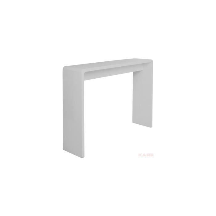 Console blanc laqu club achat vente console console blanc laqu club c - Console laque blanc design ...