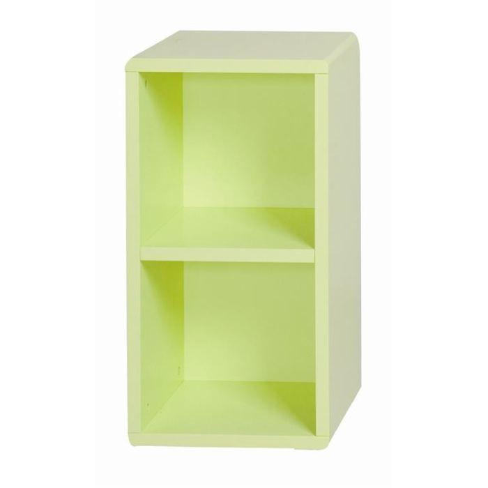 Cube de rangement 2 cases vert id 39 clik achat vente for Cube de rangement modulable fly