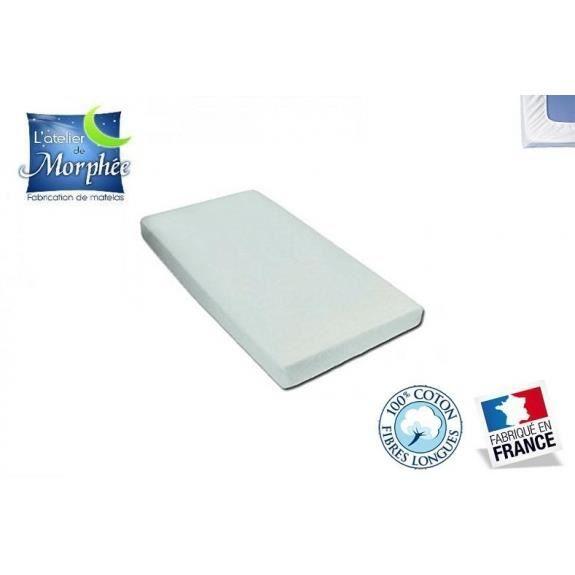 Drap housse matelas couffin 100 coton blanc 40x90 for Drap housse 40x90