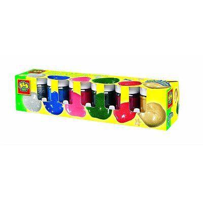 Peinture pailletttes 6 pots de 50 ml classique achat for Peinture boiro jeu deffet paillettes