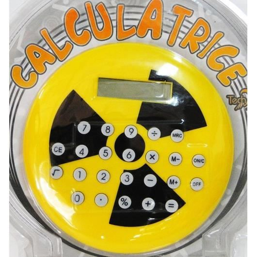 Calculatrice g ante logo nucl aire radioactif achat for Calculette geante