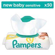 LINGETTES BÉBÉ PAMPERS Lingettes Bébé New Baby Sensitive - 50 Lin