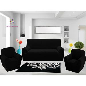 HOUSSE DE CANAPE 1 Housse de canapé 3 places + 2 Housse de fauteuil