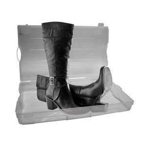 bo te chaussures en plastique transparent achat vente housse de rangement bo te. Black Bedroom Furniture Sets. Home Design Ideas
