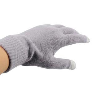 GANT TACTILE SMARTPHONE Gants pour écrans tactiles (homme) NOIR-GRIS 22,5x