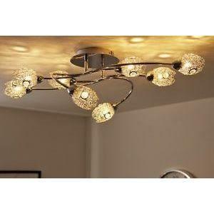 luminaire lustre lampe 8 spots sur rail lampe susp achat vente luminaire lustre lampe 8 sp. Black Bedroom Furniture Sets. Home Design Ideas