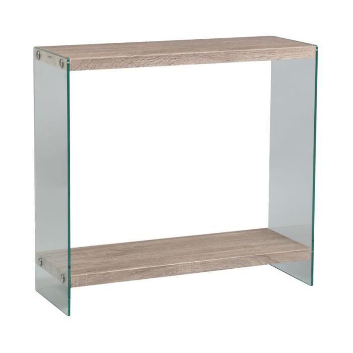 console 2 plateaux francisco l 80 x l 30 x h 76 cm achat vente console console 2. Black Bedroom Furniture Sets. Home Design Ideas