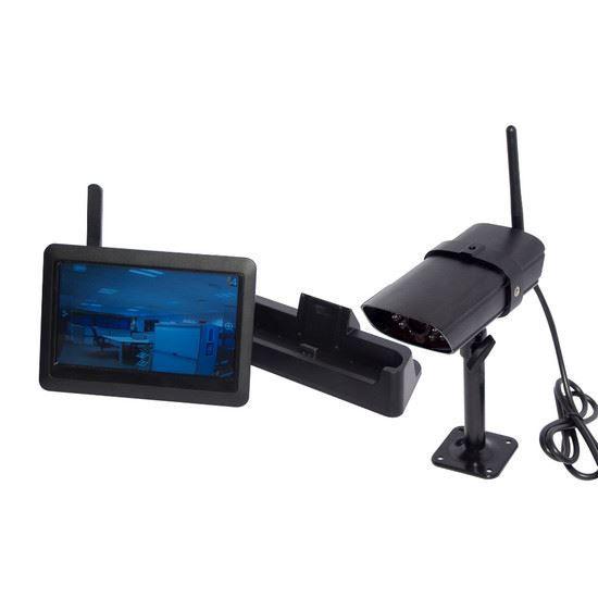 kit cam ra de surveillance sans fil avec ecran achat. Black Bedroom Furniture Sets. Home Design Ideas