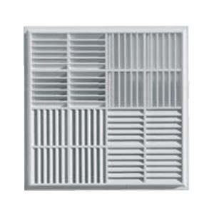 grille ventilation carr e pvc pour faux plafonds 440x440mm applique achat vente vmc. Black Bedroom Furniture Sets. Home Design Ideas
