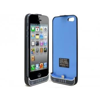 coque batterie 2200mah iphone 5 5s noir bleu achat. Black Bedroom Furniture Sets. Home Design Ideas