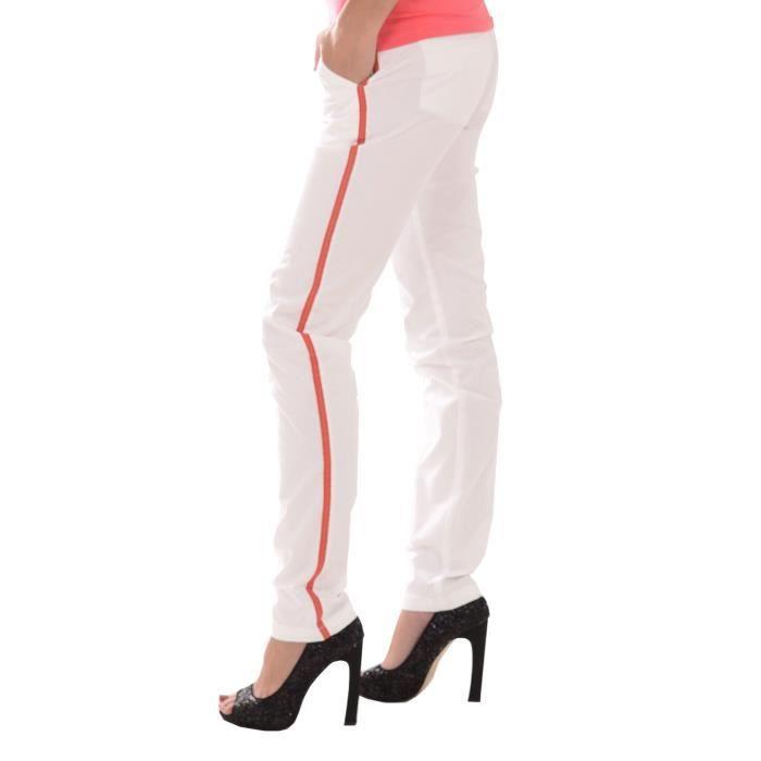 pantalons femme kaporal blanc achat vente pantalon soldes d t d s le 22 juin cdiscount. Black Bedroom Furniture Sets. Home Design Ideas