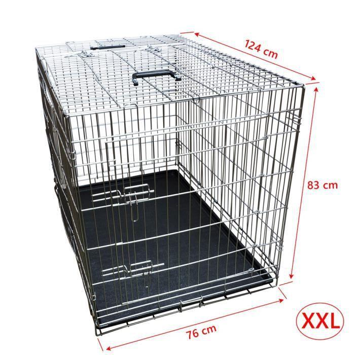 nemaxx cage pour chien pliable et transportable taille xxl. Black Bedroom Furniture Sets. Home Design Ideas
