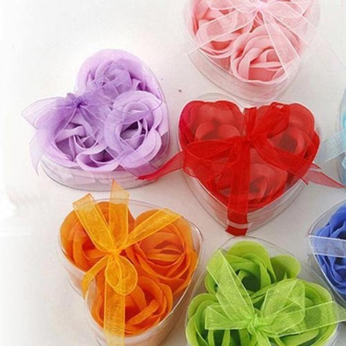 4 x 3 pcs pack coeur bain corps p tale de rose cadeau de - Petale de rose bain ...