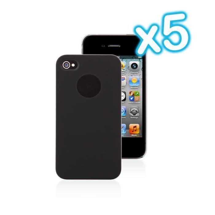 lot 5 coque housse de protection noir iphone 4 4s achat coque bumper pas cher avis et
