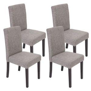 Lot de 4 chaises tissus gris achat vente lot de 4 - Chaise salle a manger pas cher lot de 4 ...