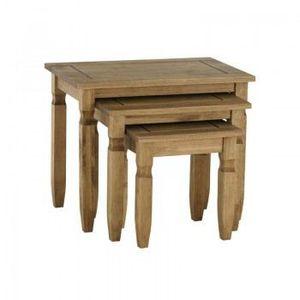 ensemble de 3 tables gigogne achat vente table basse ensemble de 3 tables gigogne cdiscount. Black Bedroom Furniture Sets. Home Design Ideas