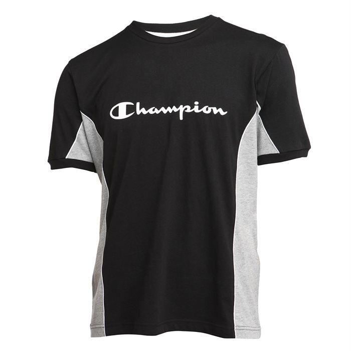 champion t shirt homme noir et gris achat vente t. Black Bedroom Furniture Sets. Home Design Ideas