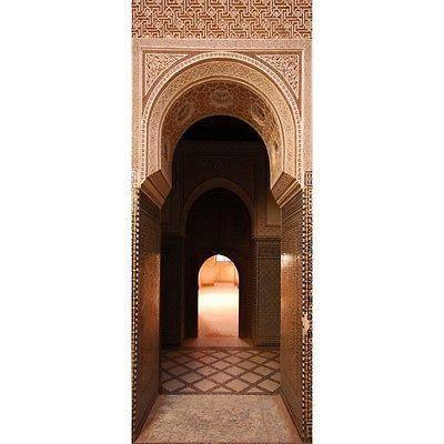 Papier peint porte palais orientale 99 dimensions 93x204cm achat vente - Papier peint orientale ...