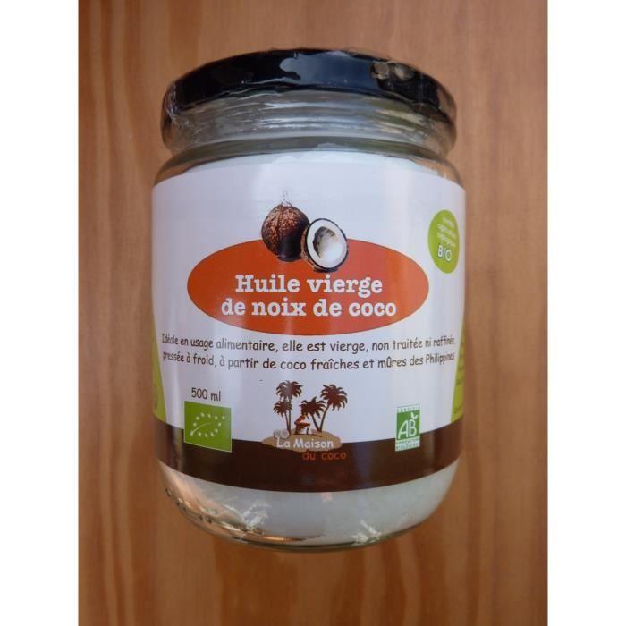 100 huile vierge de noix de coco biologique et q achat vente huile 100 huile vierge de. Black Bedroom Furniture Sets. Home Design Ideas