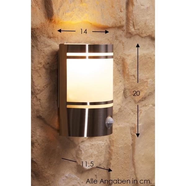 Applique ext rieure lampe de jardin spot d tecteur achat - Applique exterieure detecteur ...