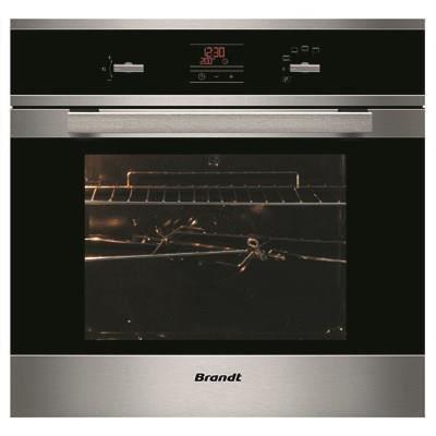 brandt fp1552x four pyrolyse 58l inox noir achat vente four cdiscount. Black Bedroom Furniture Sets. Home Design Ideas
