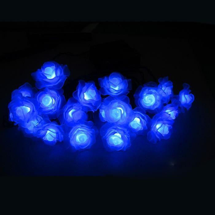 Guirlande lumineuse solaire etanche d 39 ext rieur 20leds en - Guirlande lumineuse exterieur bleu ...