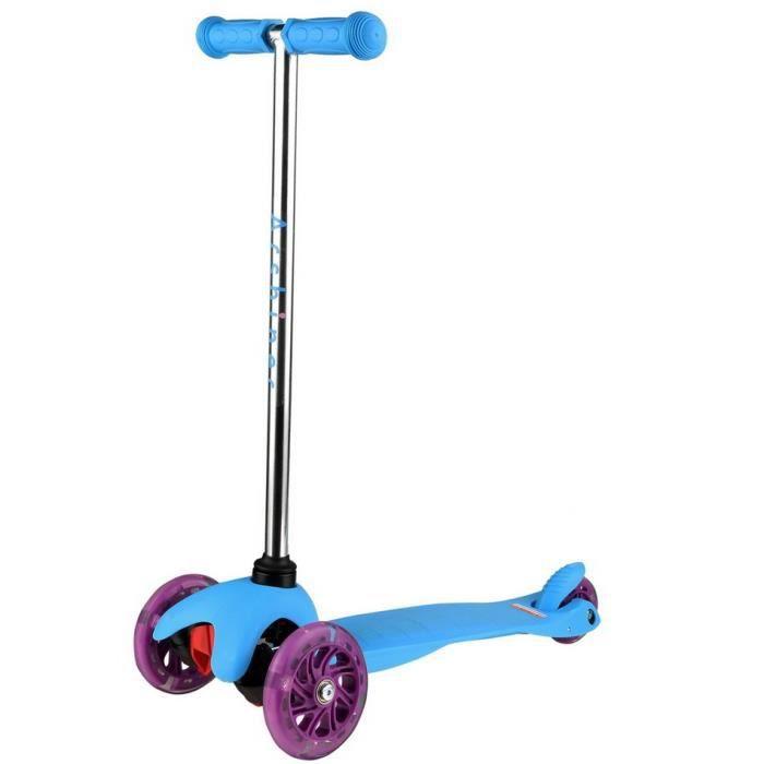 homdox trottinette 3 roues enfant scooter pliable apprentissage clairage achat vente. Black Bedroom Furniture Sets. Home Design Ideas