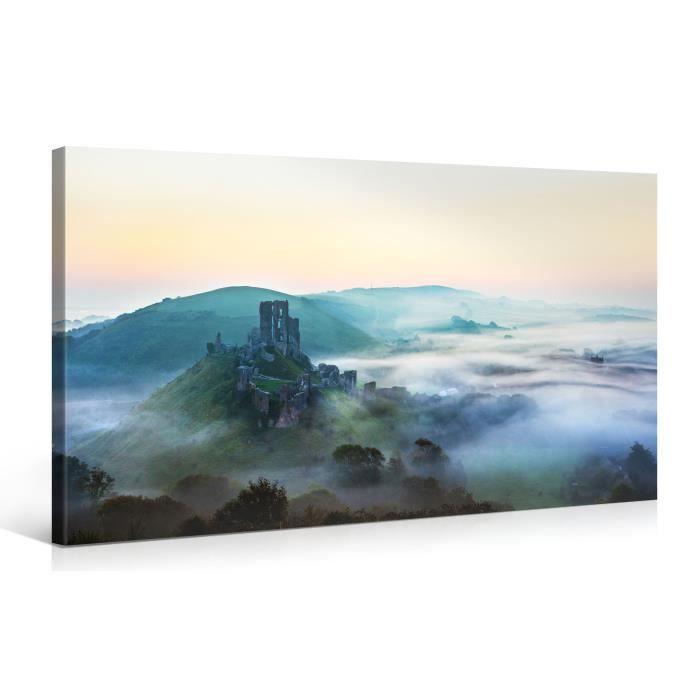 Tableau sur toile ruines 100x50cm achat vente for Tableau impression sur toile