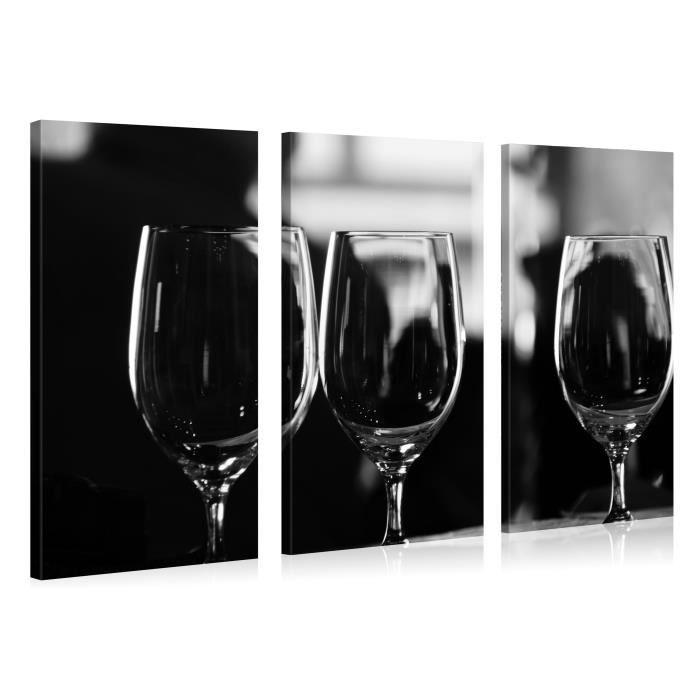 Tableau sur toile verres vin 130x80cm achat vente - Tableau imprime sur verre ...