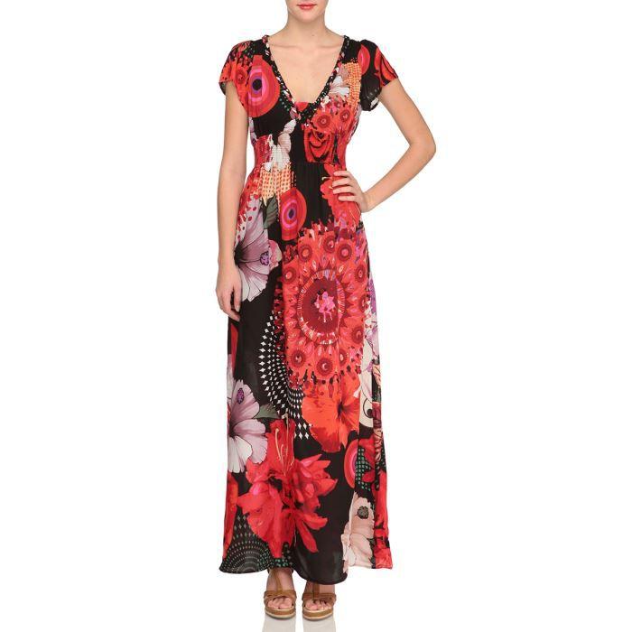 desigual robe elgic femme rouge noir et blanc achat vente robe desigual robe femme cdiscount. Black Bedroom Furniture Sets. Home Design Ideas