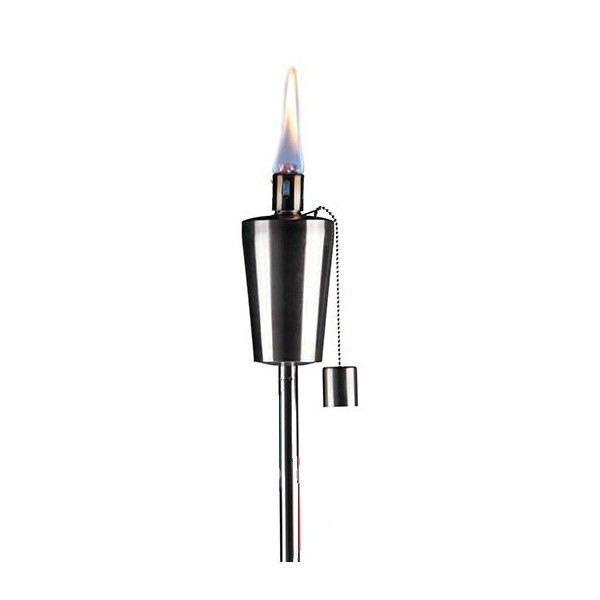 Torche inox bougie eclairage lampe 115cm huile achat - Torche a huile jardin ...