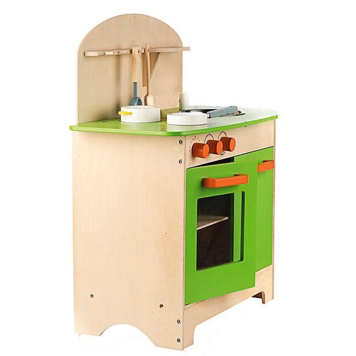 Cuisine en bois 25 pi ces pour enfants achat vente for Cuisine complete bois