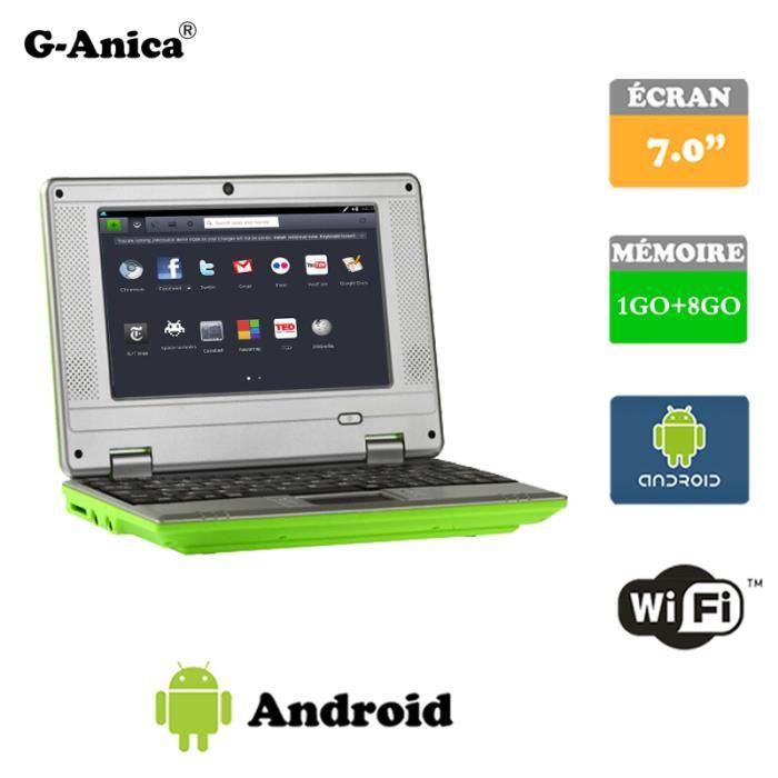 tablette ordinateur portable netbook vert android 4 hdmi. Black Bedroom Furniture Sets. Home Design Ideas