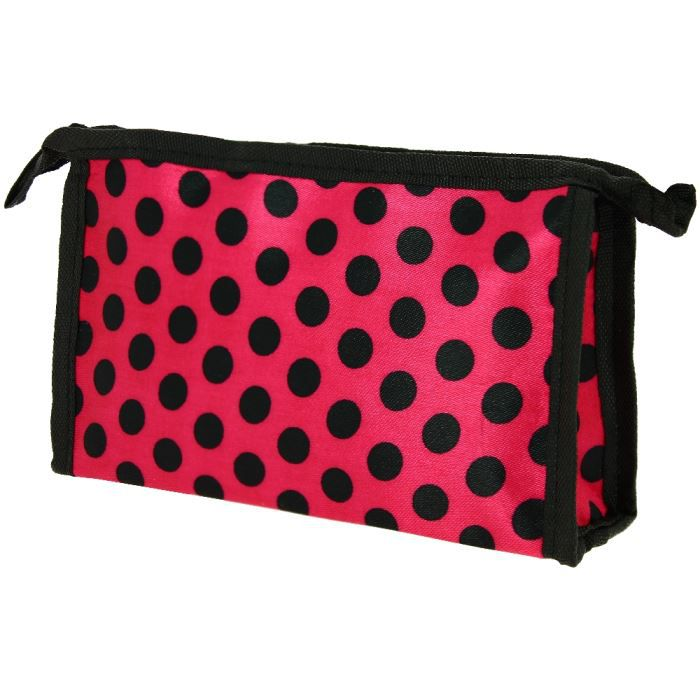 pochette trousse maquillage glamour rouge pois noi rouge achat vente trousse de maquillage. Black Bedroom Furniture Sets. Home Design Ideas